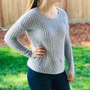 Cute Detailing Gray Knit Sweater   JCPenney